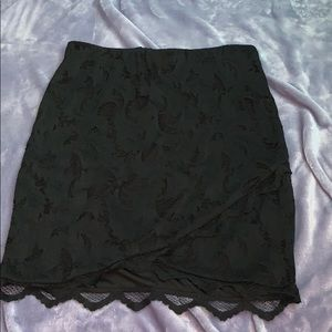 H&M Skirts - Black lace mini skirt